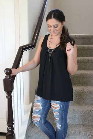 Business Casual Blouse- Black