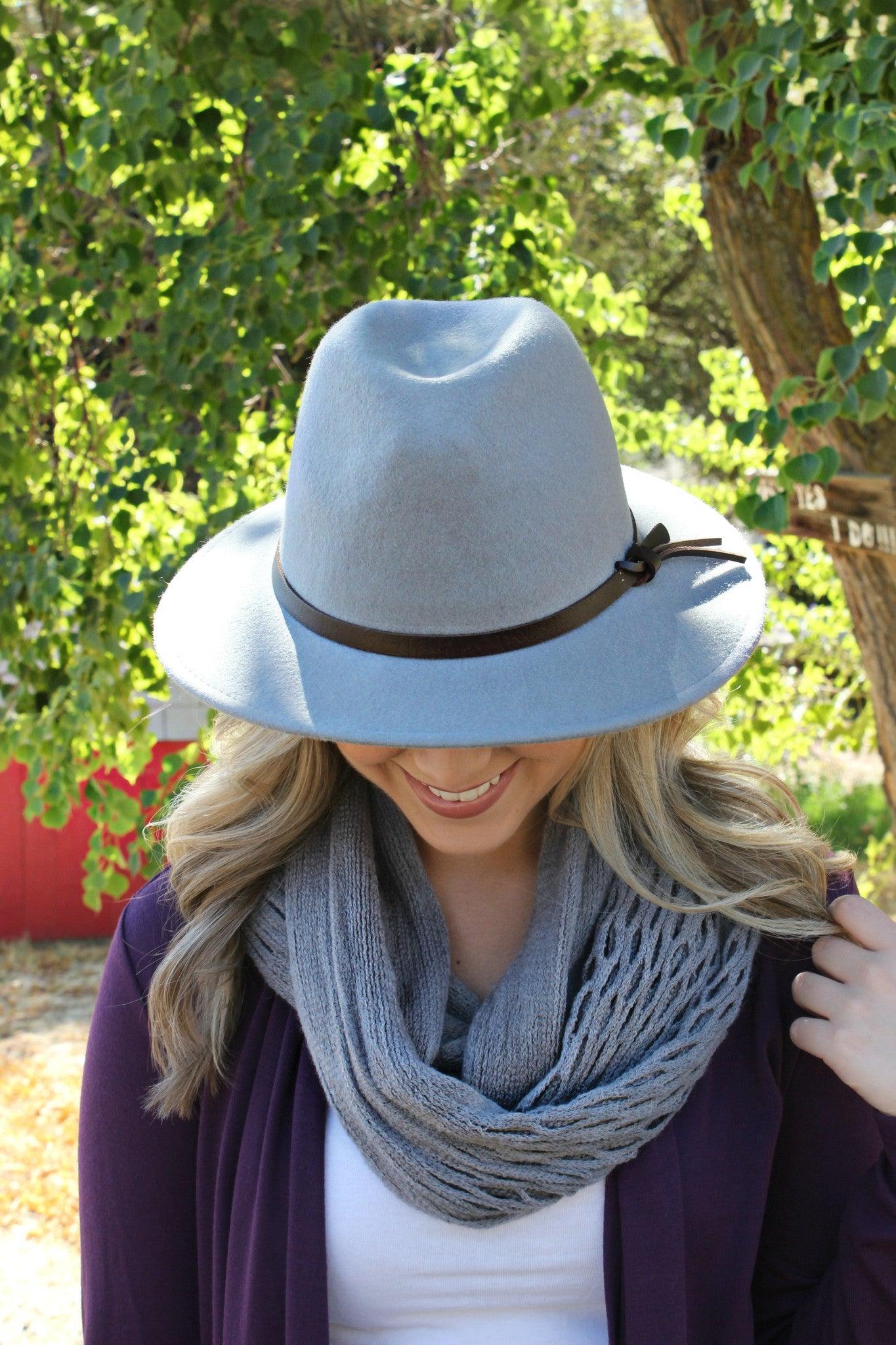 Chill in the Wind Hat- Smoke - Leah B. Boutique