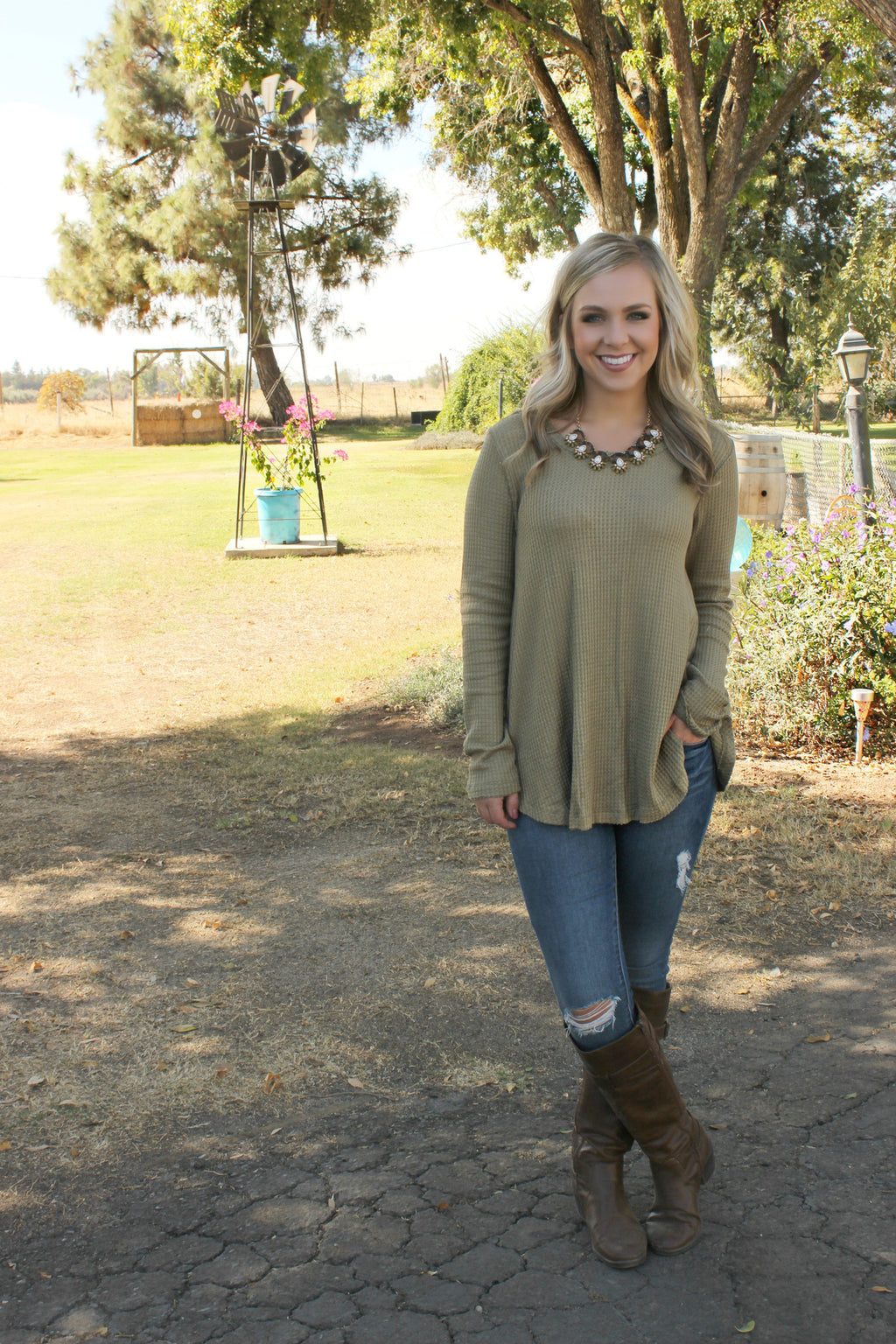 Among the Pines Blouse - Leah B. Boutique