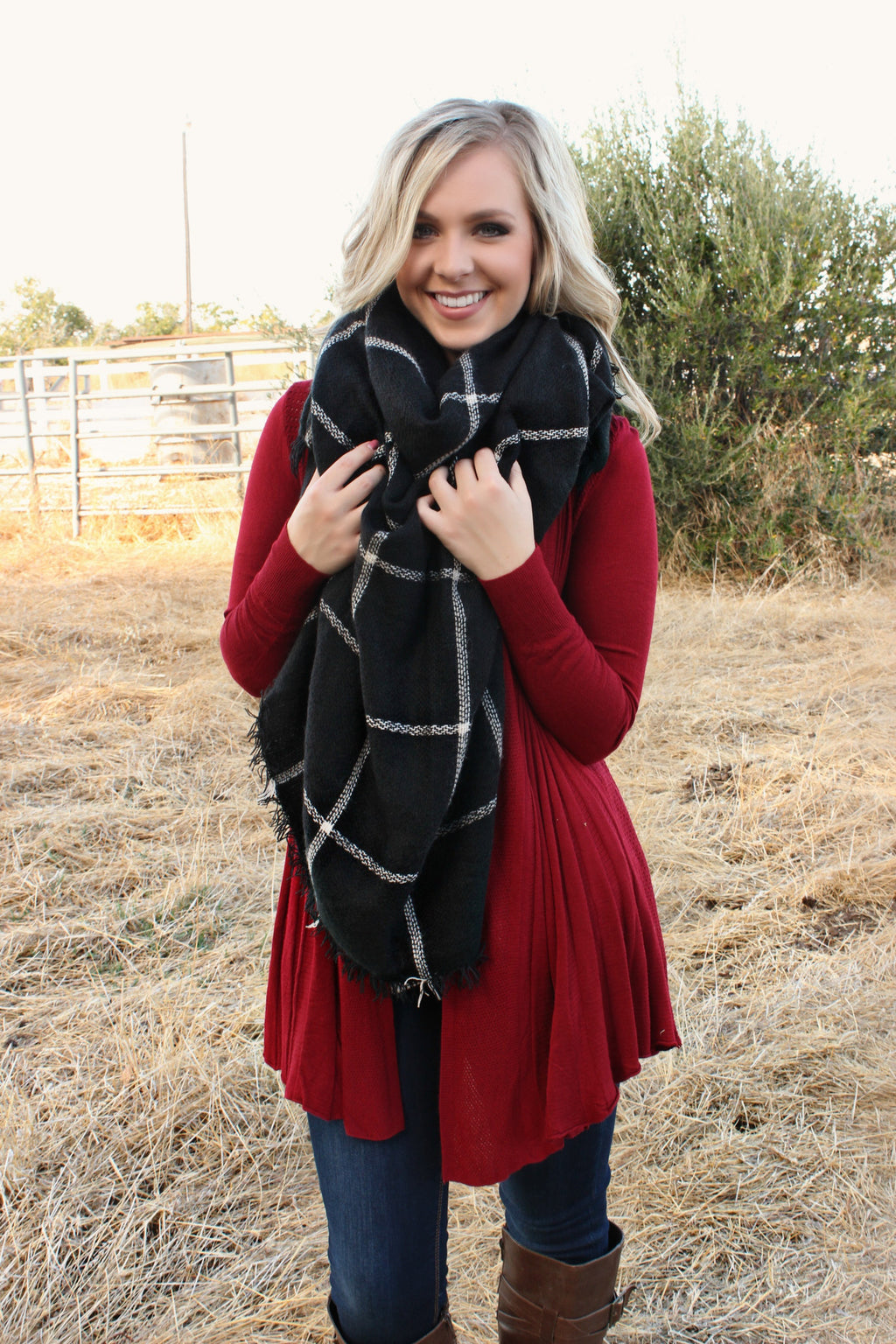 Wish You Were Here Scarf - Leah B. Boutique