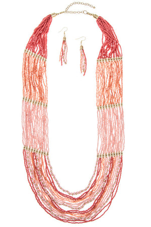 Pink Lady Necklace - Leah B. Boutique