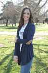 The Emma Cardigan- Navy - Leah B. Boutique