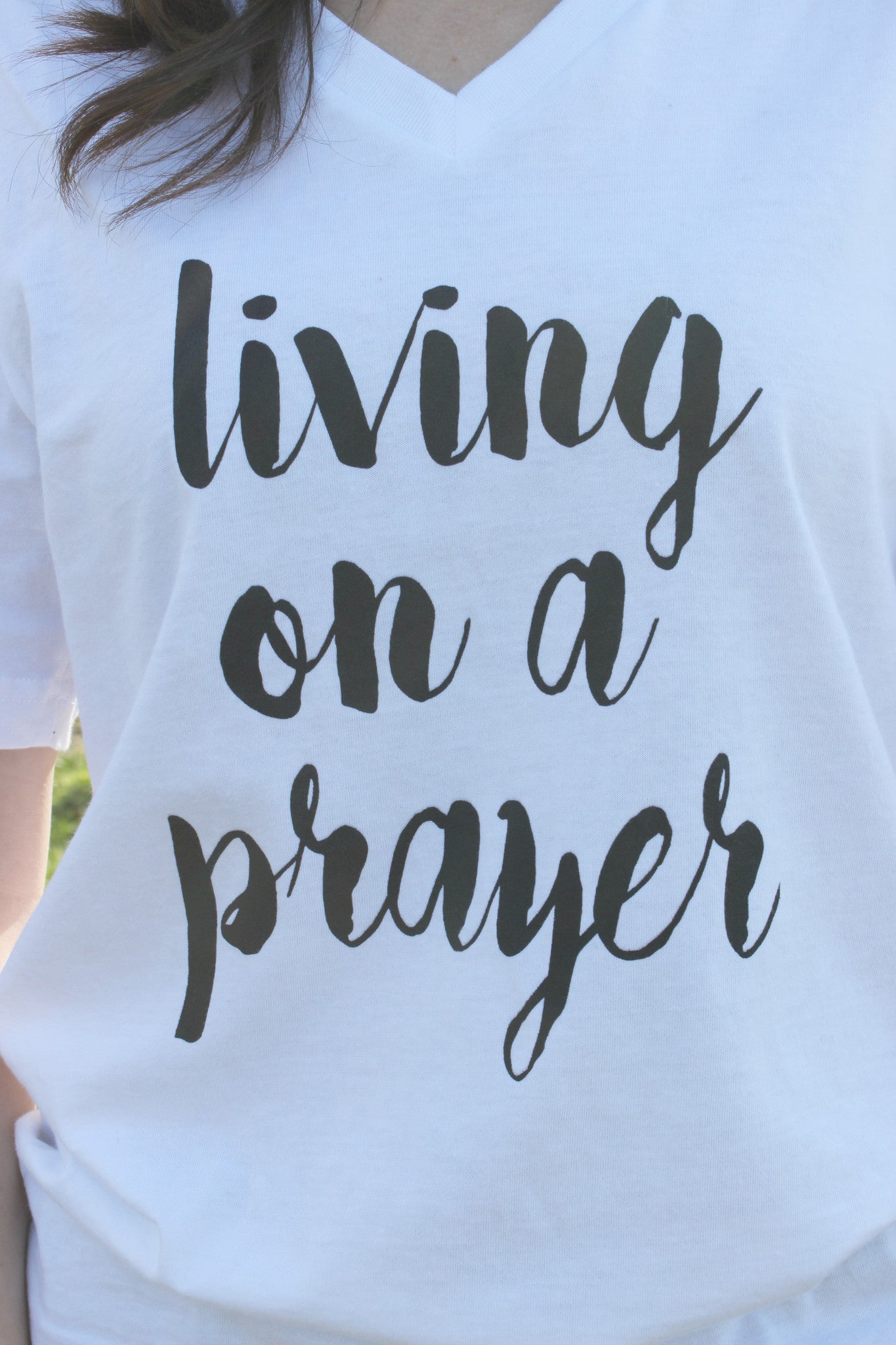 Living on a Prayer Tee - Leah B. Boutique