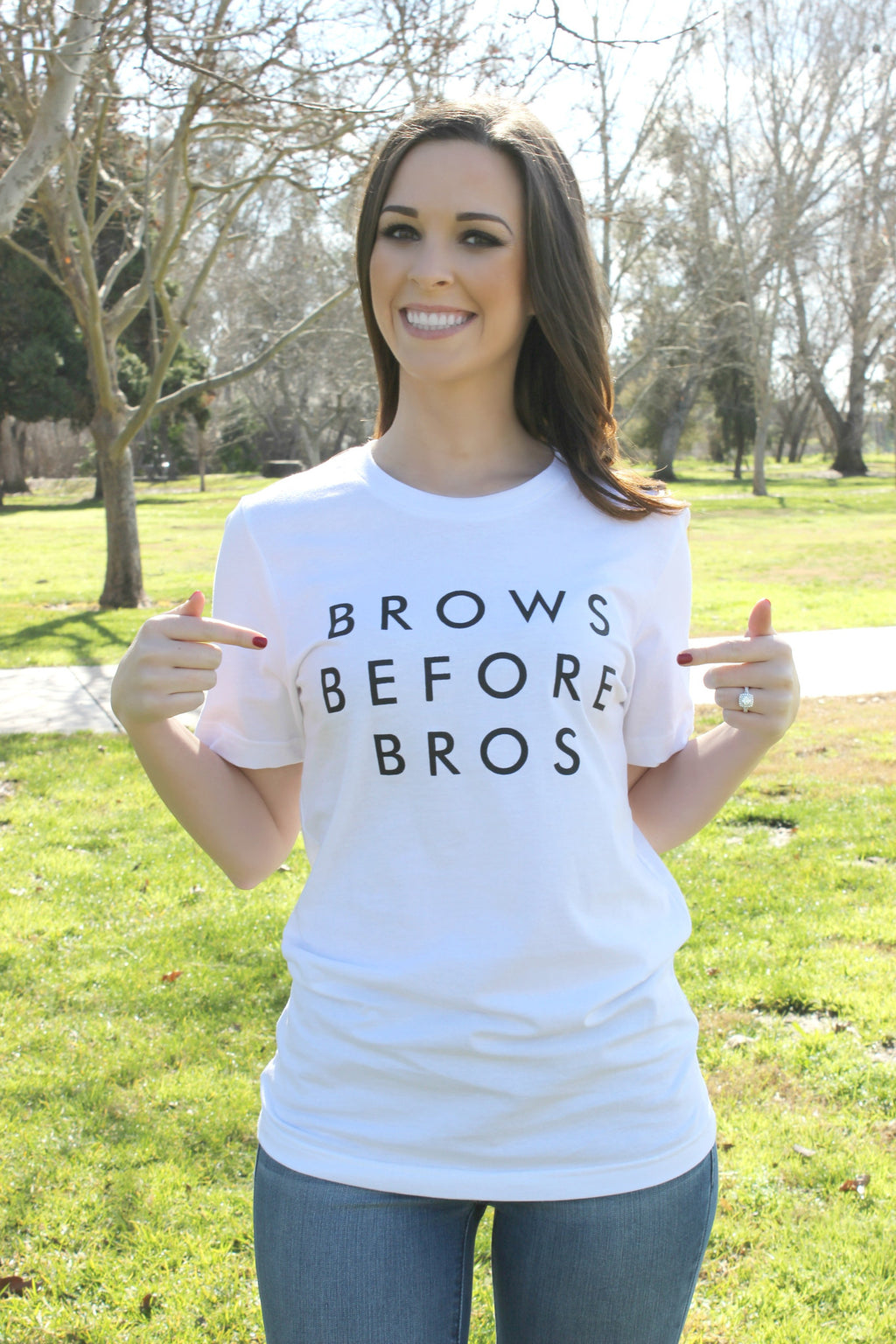 Brows Before Bros Tee - Leah B. Boutique