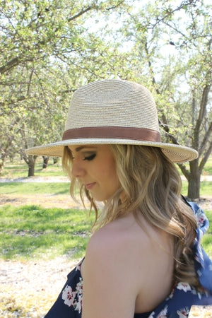 Cancun Skies Hat in Straw - Leah B. Boutique