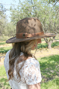 Cancun Skies Hat in Barrel - Leah B. Boutique