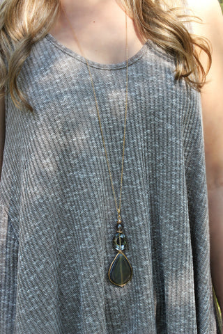 Skipping Stones Necklace Set- Midnight