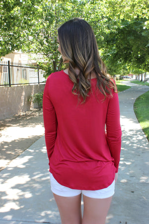 Simply the Best Blouse in Red - Leah B. Boutique