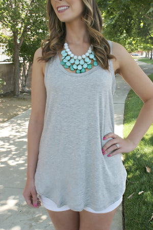 The Essential Tank- Heather - Leah B. Boutique