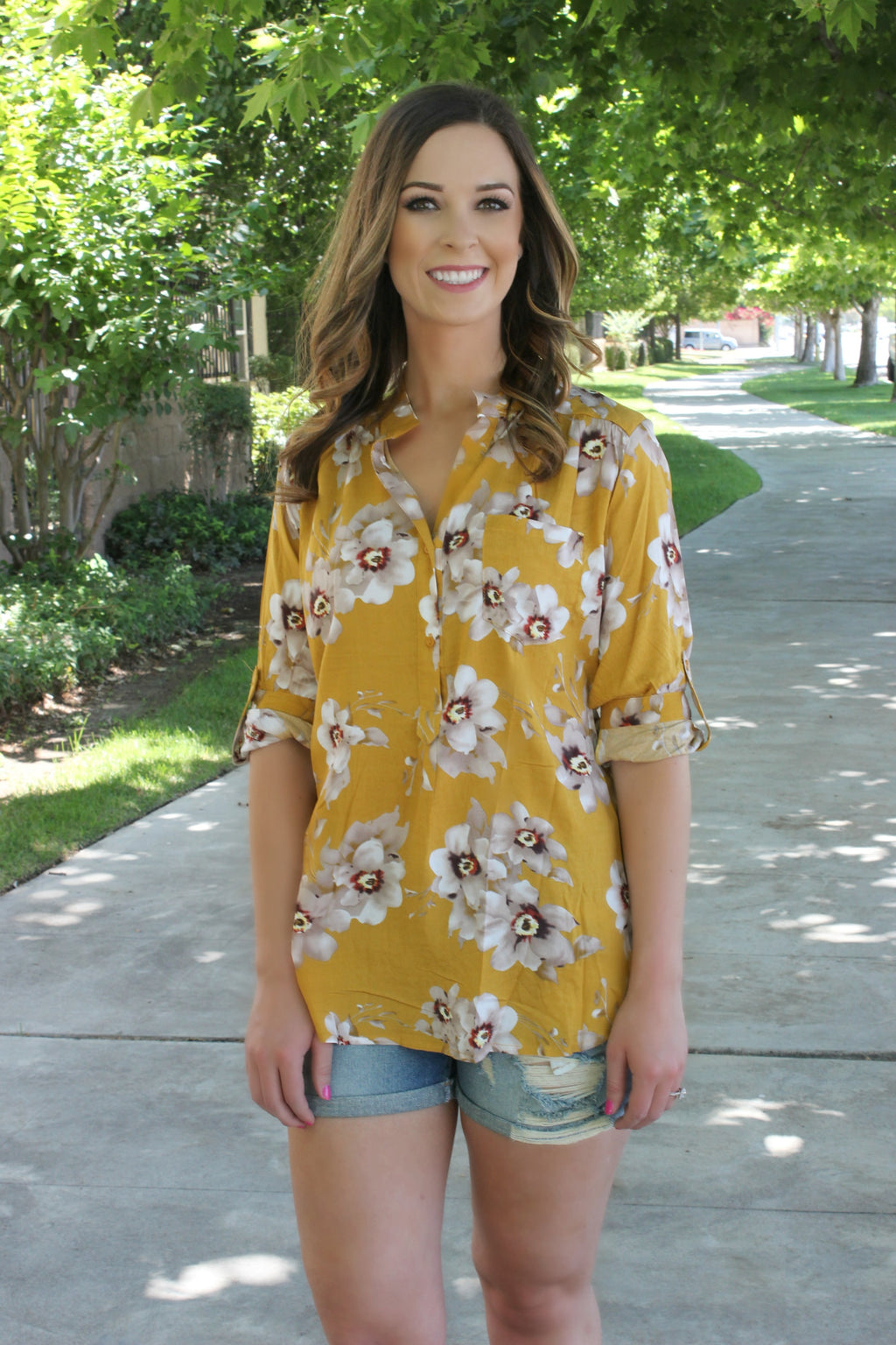Field of Dreams Blouse - Leah B. Boutique