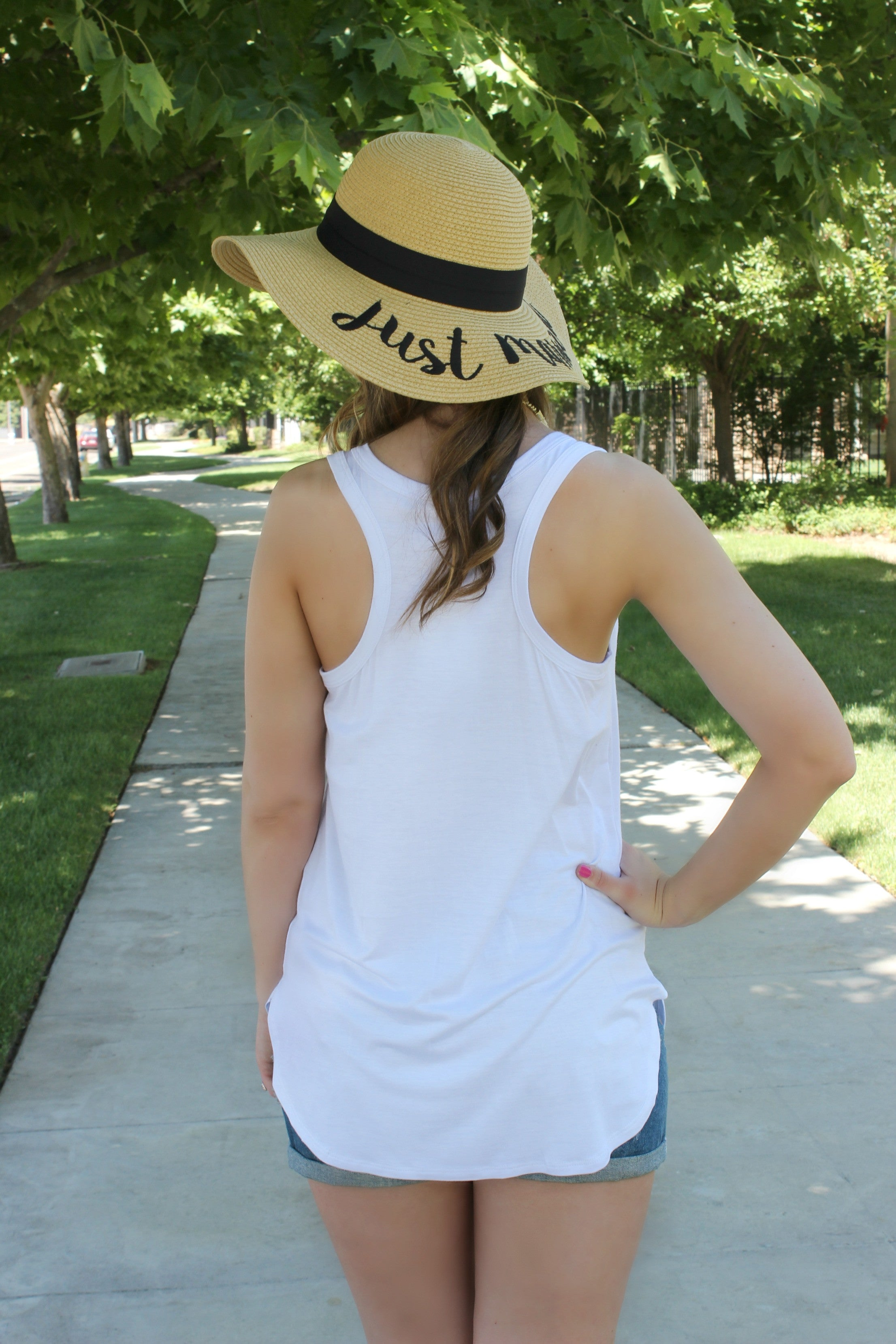 The Essential Tank- White - Leah B. Boutique