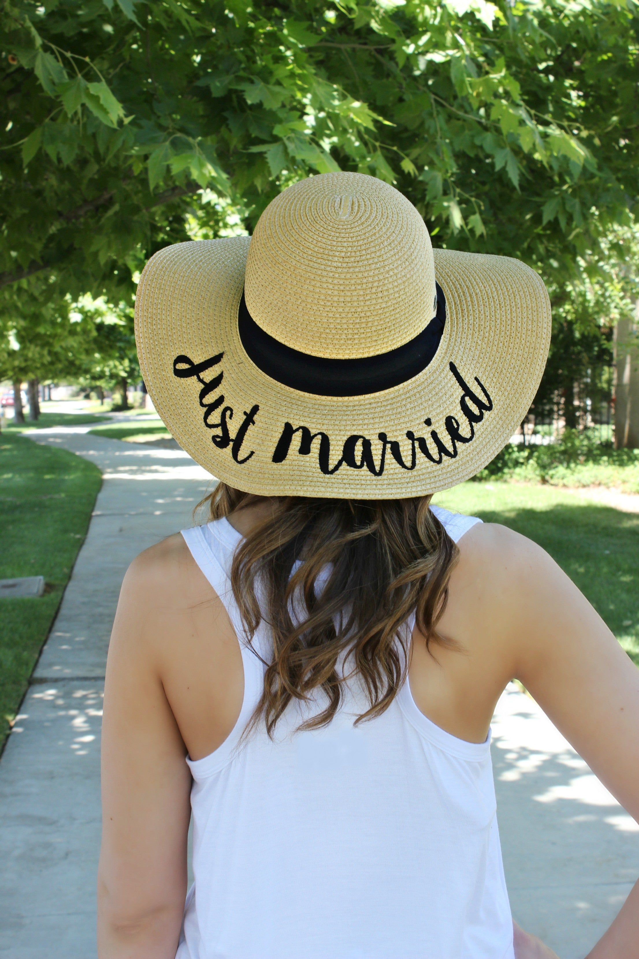 "The Essential Beach Hat- ""Just Married"" - Leah B. Boutique"