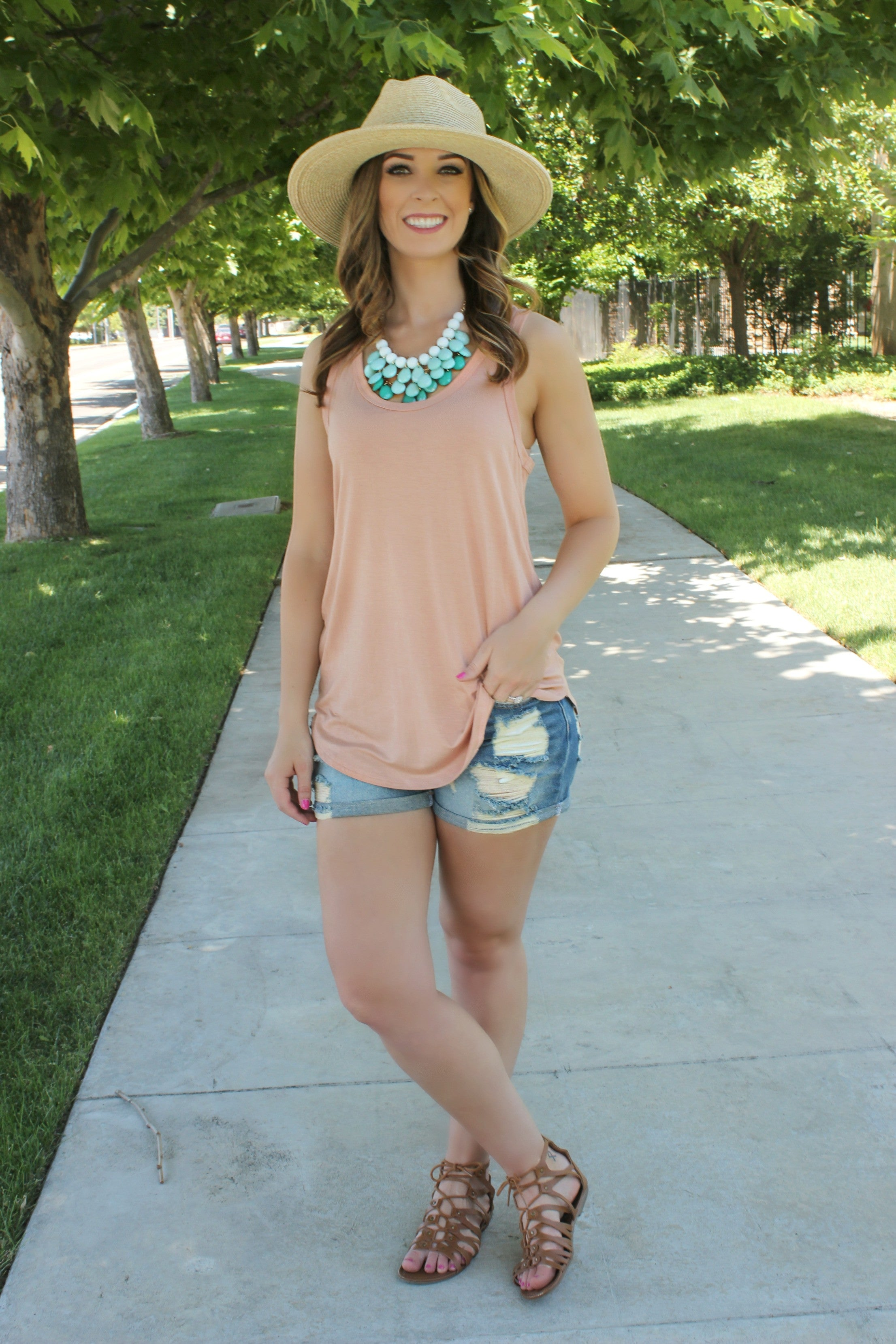 The Essential Tank- Blush - Leah B. Boutique