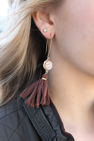 Audrey Earrings- Chocolate - Leah B. Boutique
