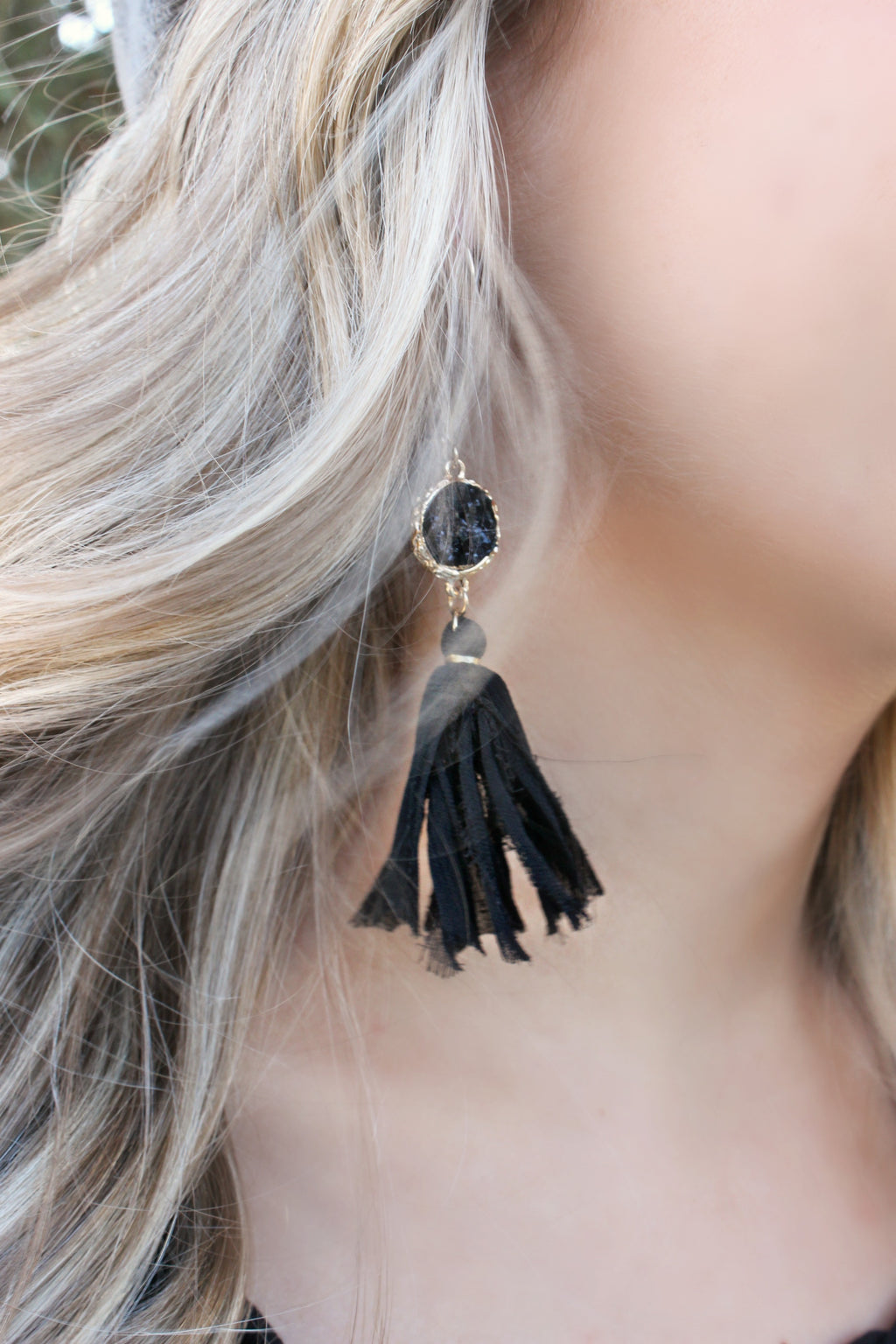 Audrey Earrings- Black - Leah B. Boutique