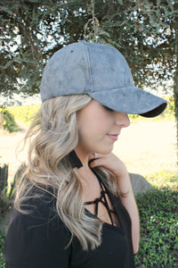 Suburban Chic Hat in Smoke - Leah B. Boutique