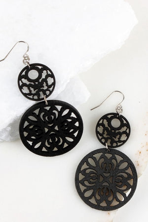 Just Essentials Earrings in Black - Leah B. Boutique