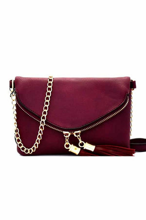 So In Love Clutch- Wine - Leah B. Boutique