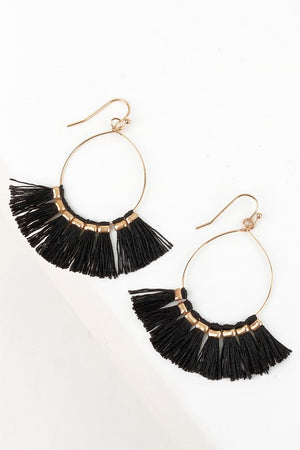 Never Silenced Earrings in Black - Leah B. Boutique