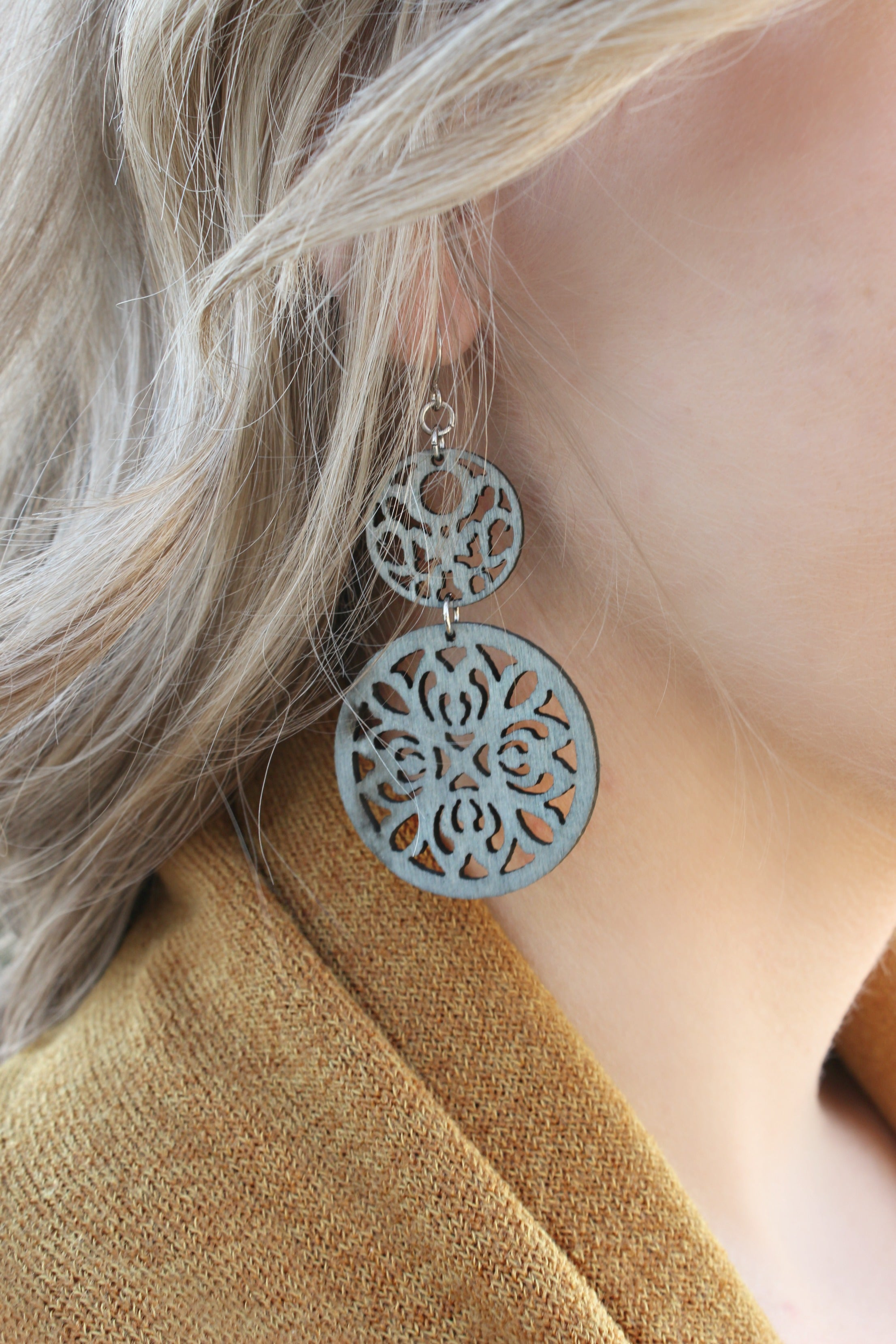 Just Essentials Earrings in Gray - Leah B. Boutique