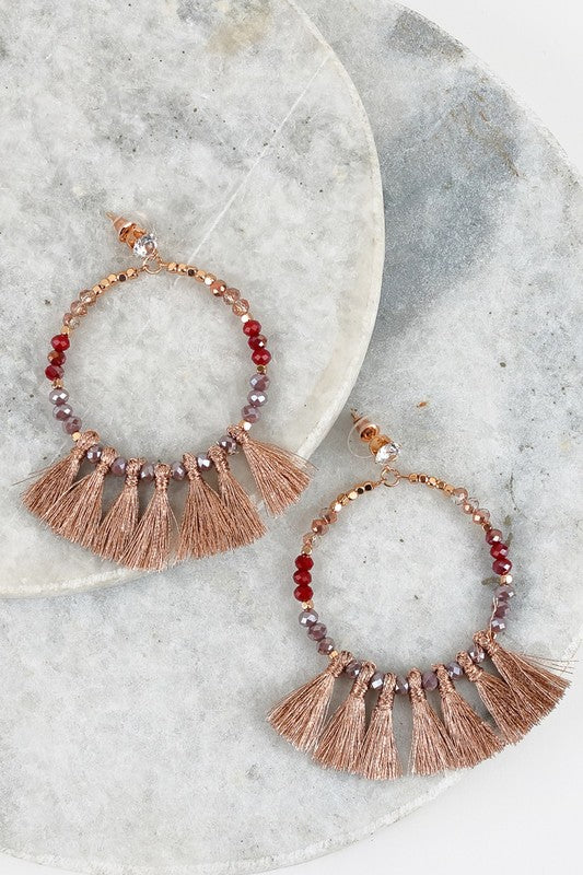 Going Somewhere New Earrings in Rose Gold - Leah B. Boutique