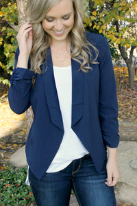 Class Act Blazer in Midnight - Leah B. Boutique