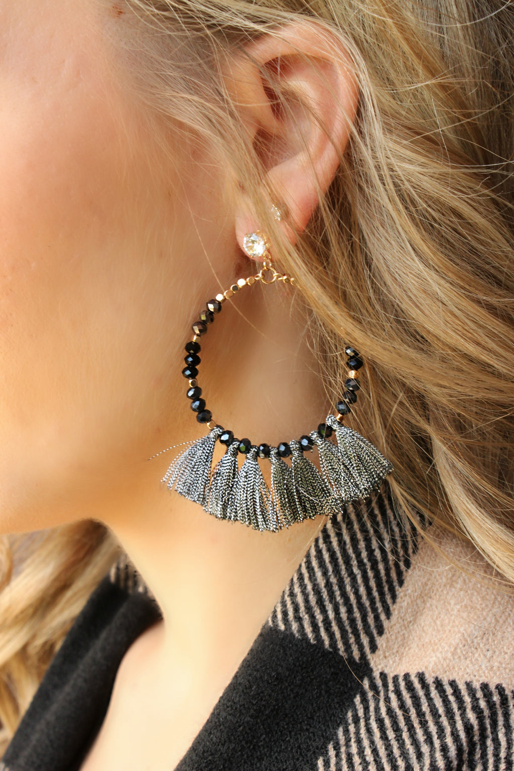 Going Somewhere New Earrings in Black - Leah B. Boutique
