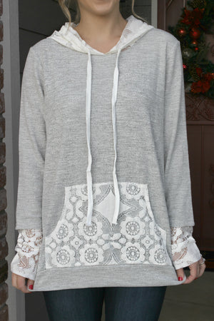 Sweet Kisses Hoodie - Leah B. Boutique