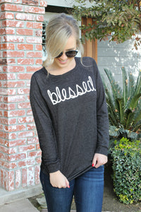 Oh So Blessed Sweater - Leah B. Boutique