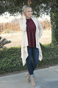 Never Enough Cardigan in Buttercream - Leah B. Boutique