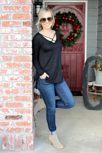 Simply the Best Blouse in Black - Leah B. Boutique