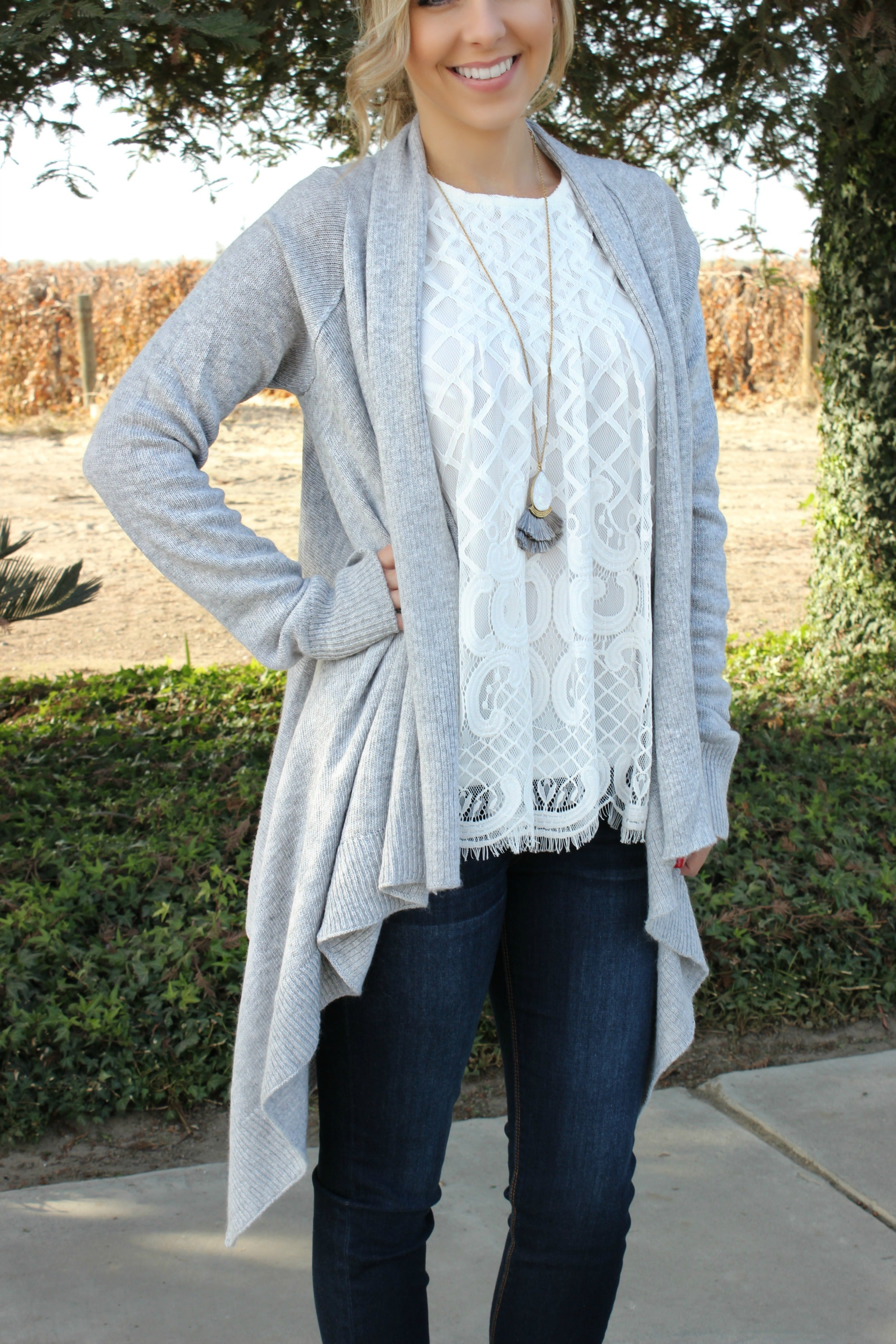 Never Enough Cardigan in Smoke - Leah B. Boutique