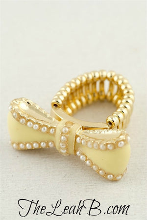 Peachy Keen Bow Ring - Leah B. Boutique