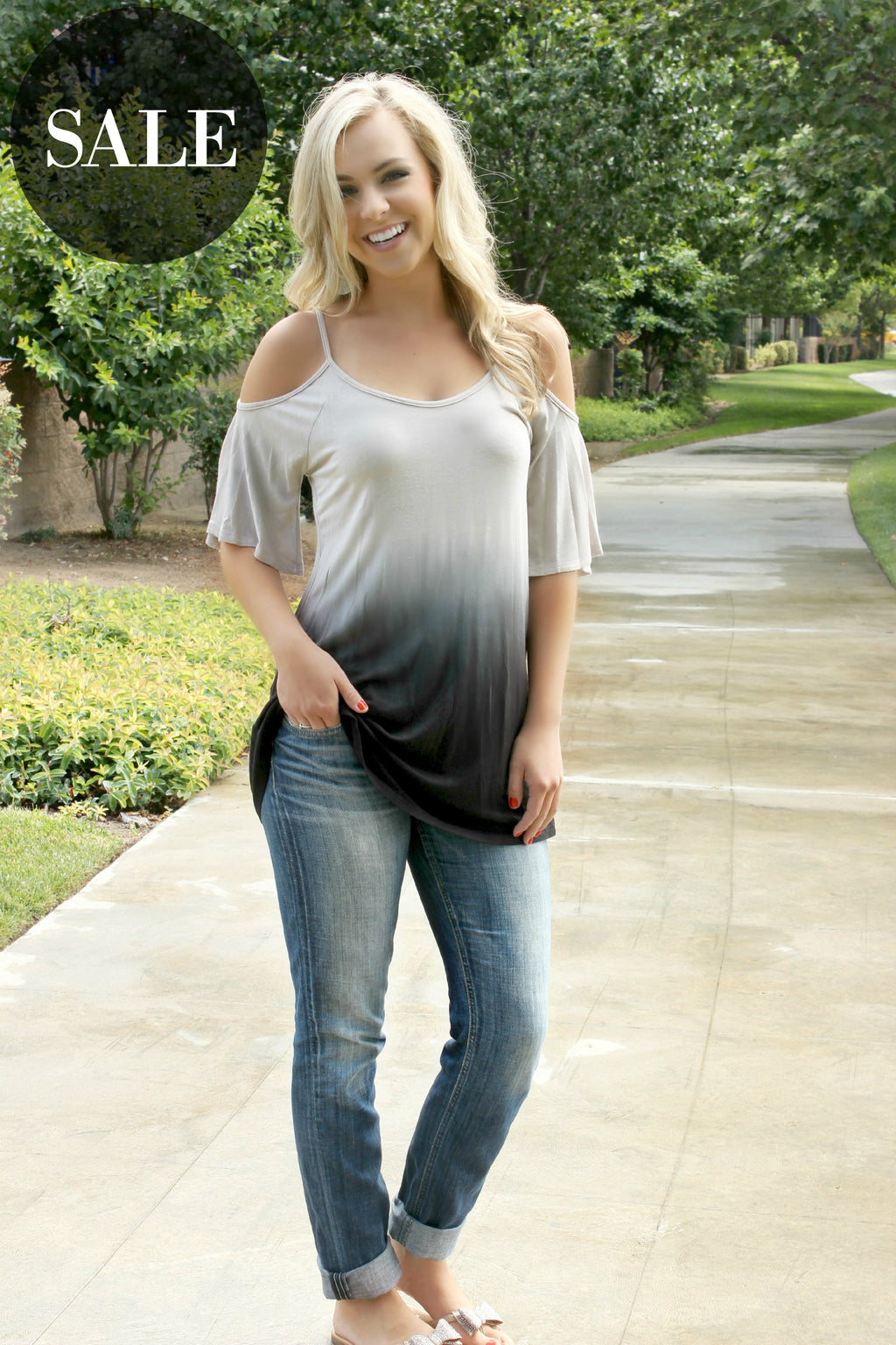 Cloudy Morning Blouse - Leah B. Boutique