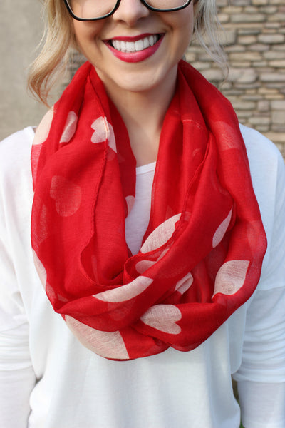 Heart's Delight Infinity Scarf