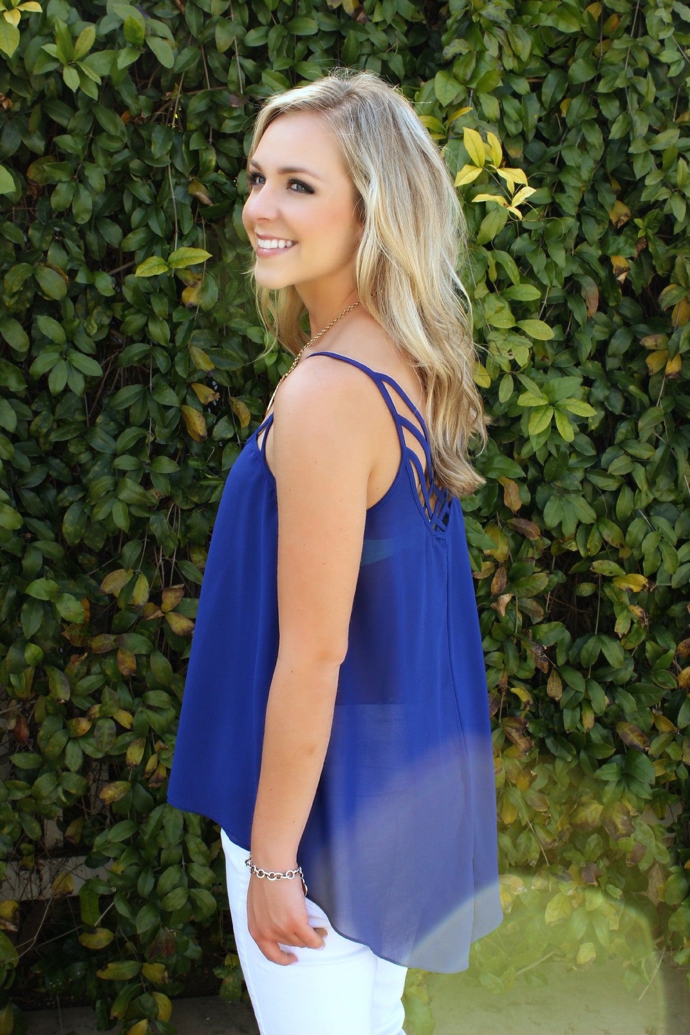 Cobalt Waters Blouse - Leah B. Boutique