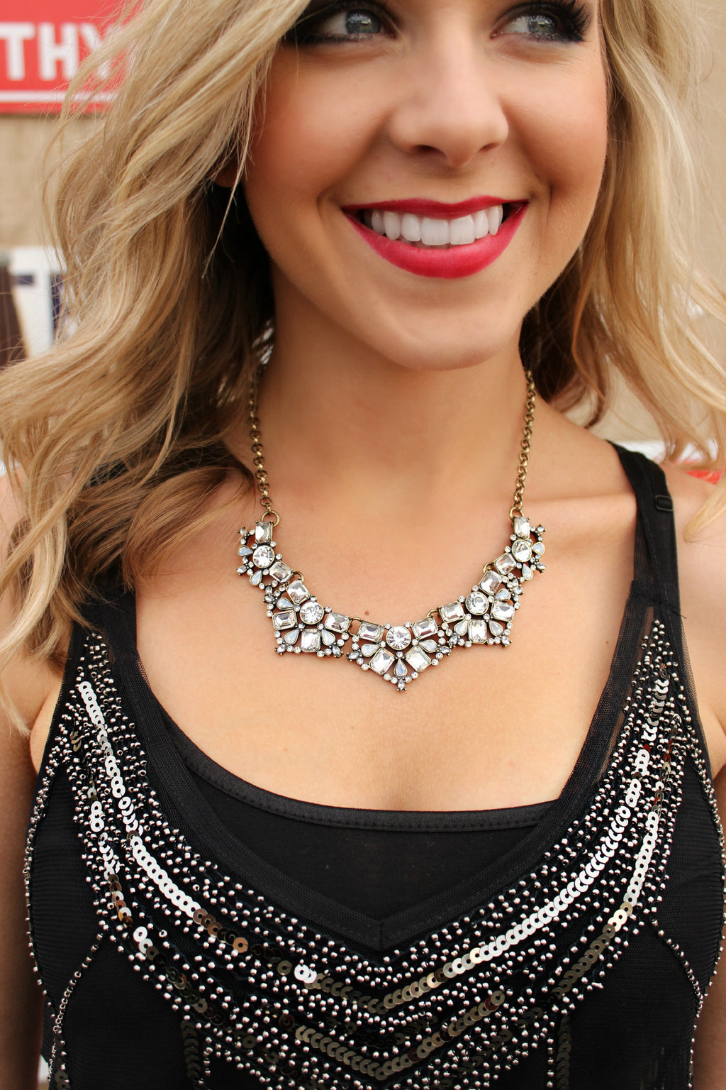 Crackling Fire Necklace - Leah B. Boutique
