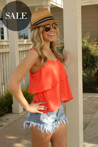 Perfectly Coral Blouse - Leah B. Boutique