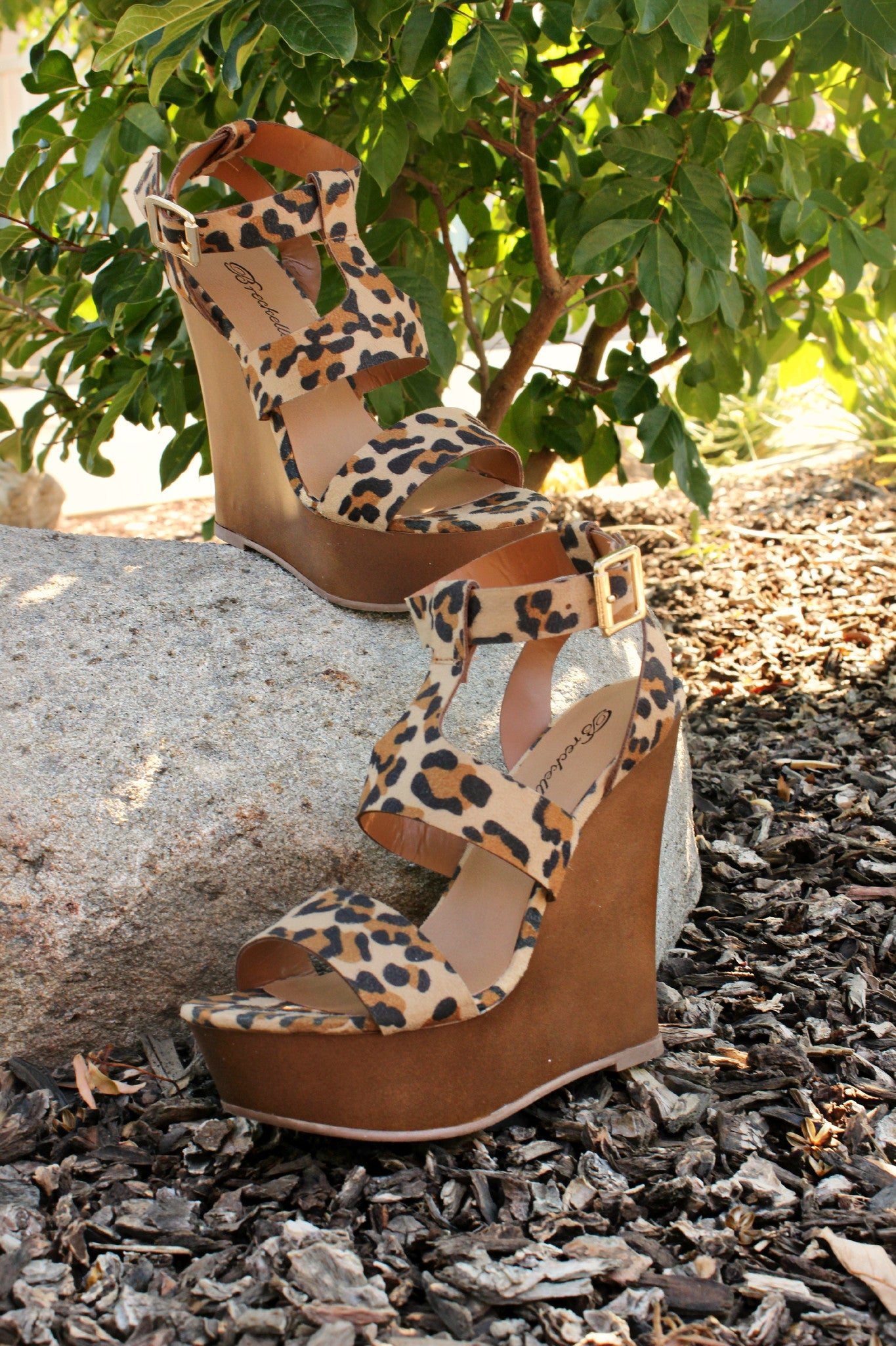 Baby, I'm A Wild One Wedges - Leah B. Boutique