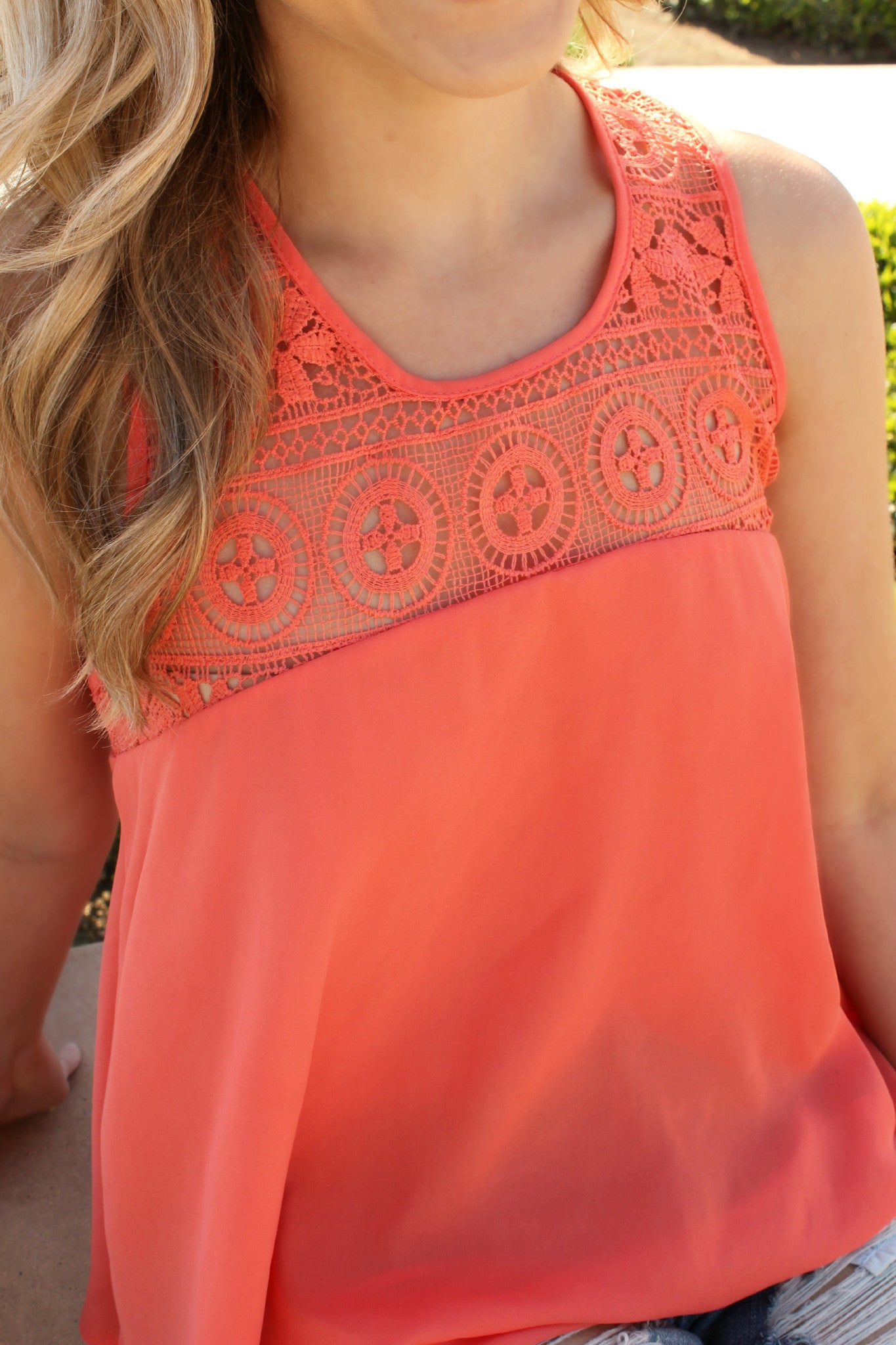 Tan Lines and Blue Skies Blouse - Leah B. Boutique