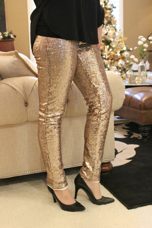 Champagne Toast Leggings - Leah B. Boutique