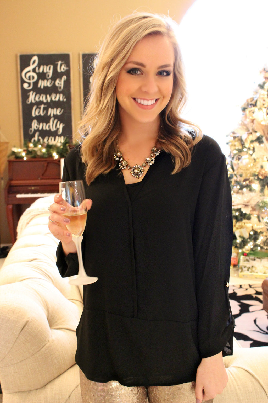Fancy Free Blouse - Leah B. Boutique