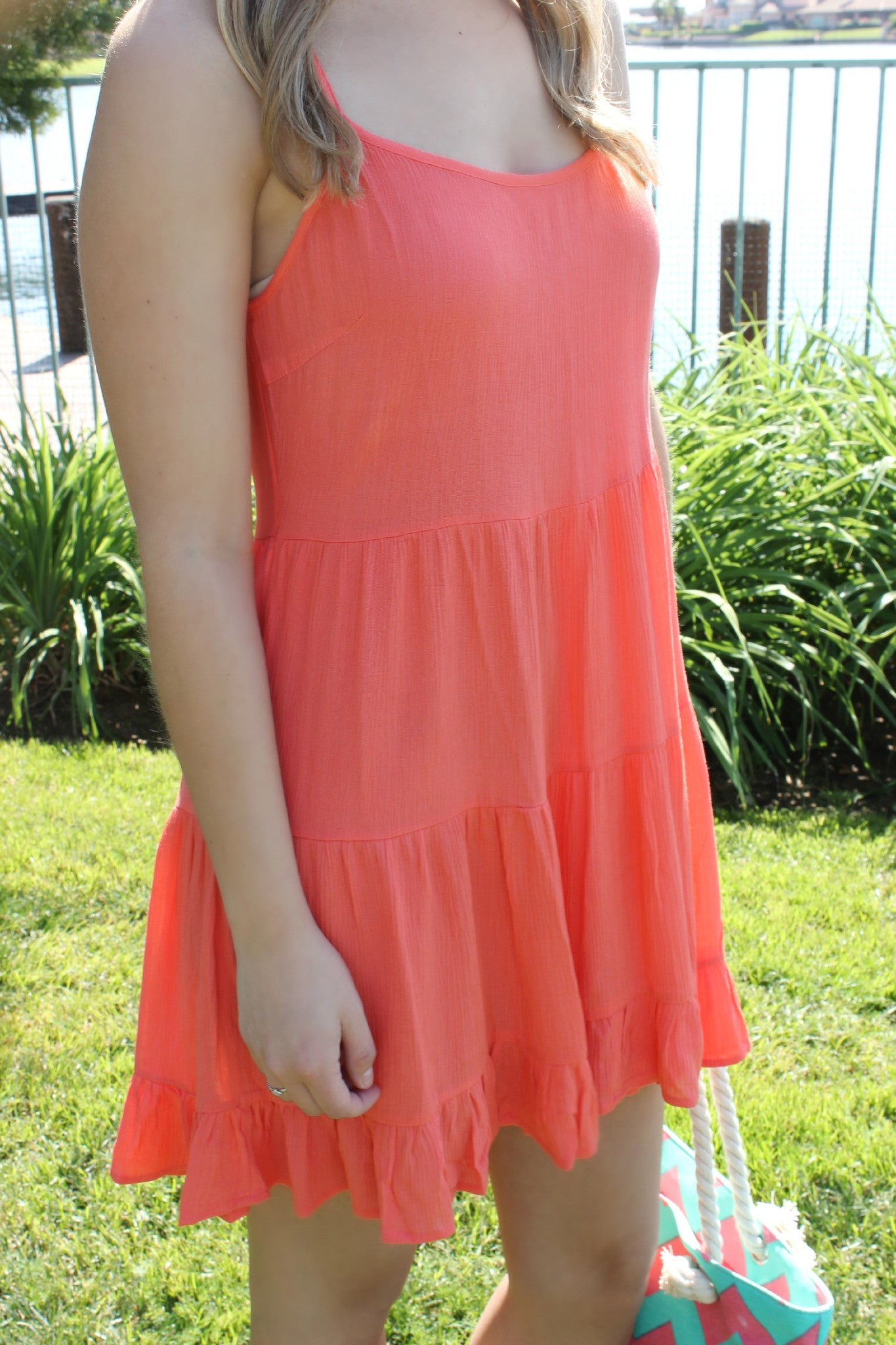 Papaya Paradise Dress - Leah B. Boutique