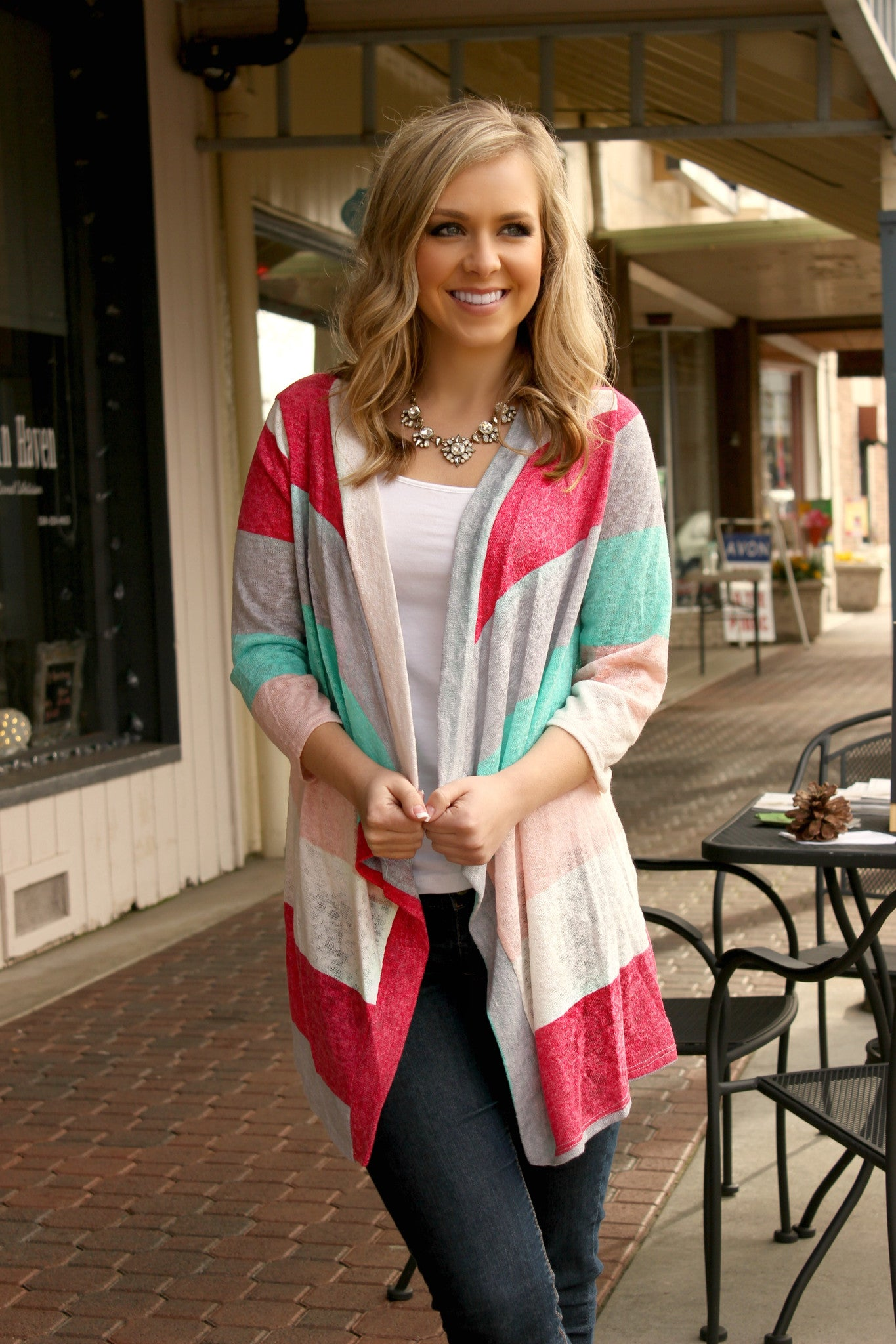Candy Striper Cardigan - Leah B. Boutique