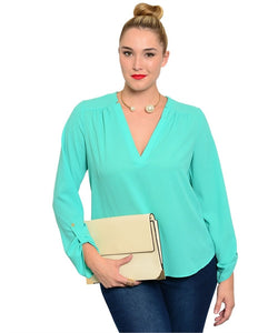 Summer Sky Dobby Blouse - Leah B. Boutique