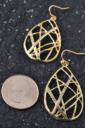 Webbed with Gold Earrings