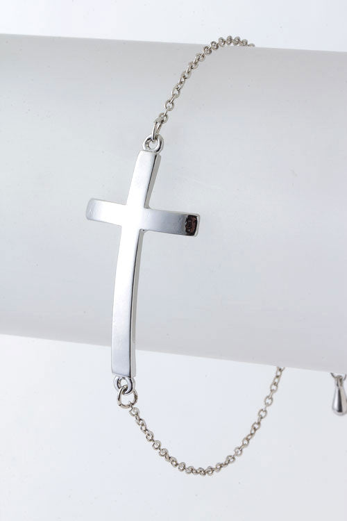 Solid Cross Bracelet - Leah B. Boutique