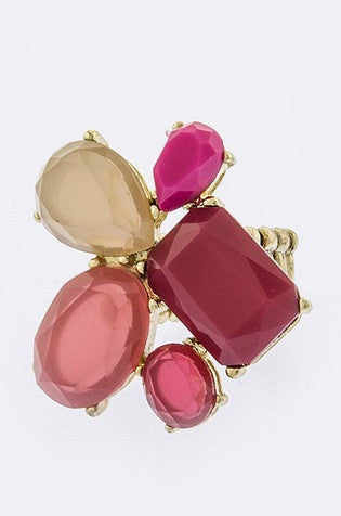 Mixed Jewel Ring - Leah B. Boutique
