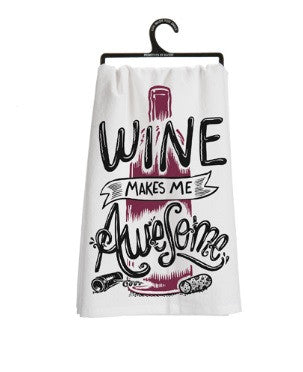 Wine Makes Me Awesome Towel - Leah B. Boutique