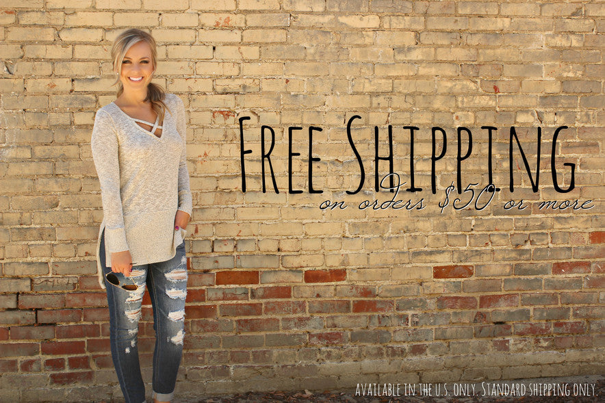 Free shipping on orders $50 or more to the USA